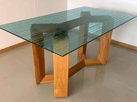 Hermosa mesa roble macizo