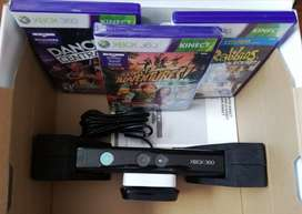 Sensor Kinect Xbox 360 + 3 Juegos Originales