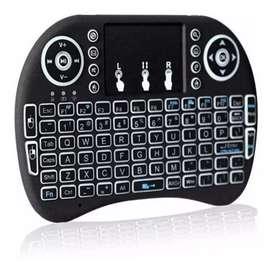 Mini Teclado Inalámbrico mouse Android Smart Tv Iluminad.CV