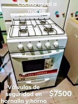 Cocina igual a nueva con válvulas de seguridad