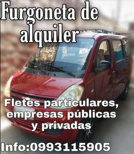 ALQUILER-FLETES DE FURGONETA EN ESMERALDAS