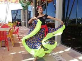 falda pollera carnaval