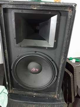 Caja con parlante de 12 de 1000W y Driver de 300W