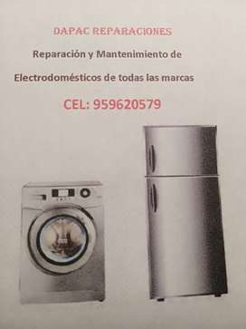 REPARACION DE LAVADORAS Y REFRIGERADORAS