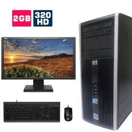 VENTA COMPUTADOR DE ESCRITORIO, HP 6000 CORE 2 DUO, MONITOR, TECLADO Y MOUSE