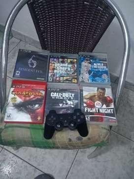 Juegos de PS3 y control original en exelente estado