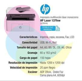 Impresora Laser Hp 137FDW + OBSEQUIO