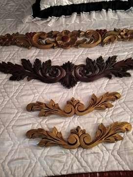 Hermosos frisos tallados en madera