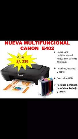 Nueva impresora CANON E402 con sistema continuo adaptado