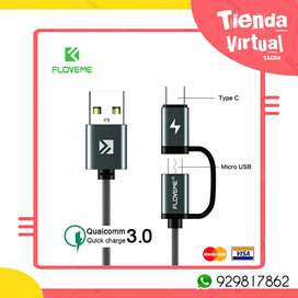 Cable usb dual doble
