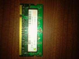 RAM DDR2 SODIM 1 Giga (Net/Notebooks)