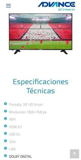 """SMART TV ADVANCE 39"""" CON GARANTIA EN CUSCO"""