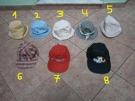 gorras con viseras en excelente estado