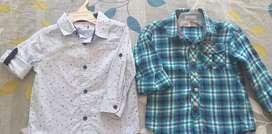 Camisas x2 baby fresh y offcorss talla 2