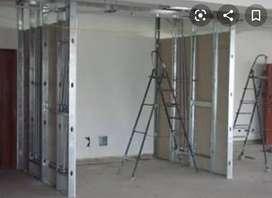Trabajos en drywall vivienda comercio