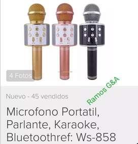 Micrófono karaoke USB SD Bluetooth portátil