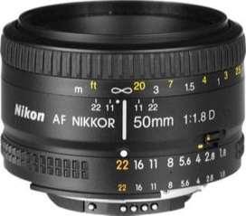 Lente AF Nikon 50mm F1.8 D usado