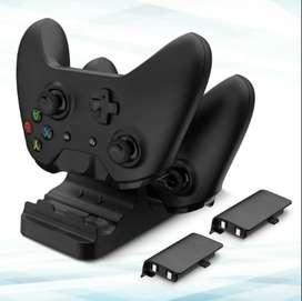 Base Carga Y Juega Xbox One Indicador De Carga Y 2 Baterias
