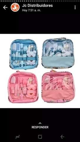 Kit de aseo completo y cuidado personal summer 14 piezas azul o rosado