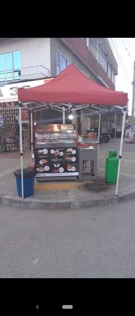 Se vende montaje para negocio de comidas rápidas