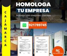 HOMOLOGACION DE PROVEEDORES CAJAMARCA