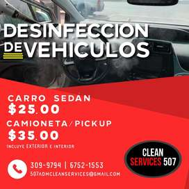 Desinfeccion de vehiculos