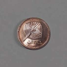 Moneda de Fiji, 1992, 2 cent, XF