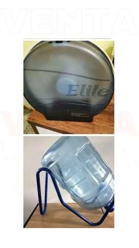 Portapapel higiénico + botellón de agua y base
