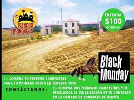 Vendo Fincas Familiares Montecristi Manabi 1000M2 a 6000M2  Cuotas Fijas SD2