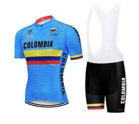 UNIFORME CICLISMO COLOMBIA AZUL