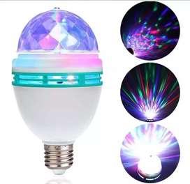 Lámpara Luz Led Efecto Disco Giratoria Color Rgb 220v