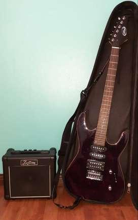 Guitarra Eléctrica Tom Grasso by Ortizo, Amplificador Kustom DART 10
