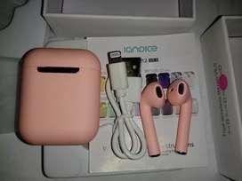 Auriculares Bluetooth i12 Rosas inalámbricos nuevos en caja similares a los Airpod