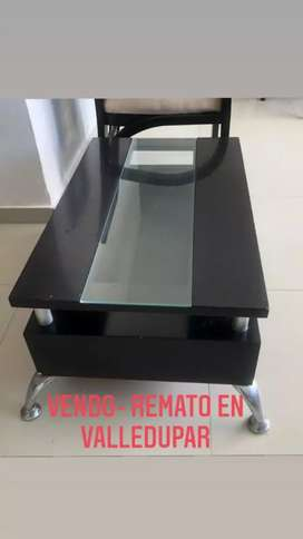 USADO, Mesa de centro en madera moderna negra