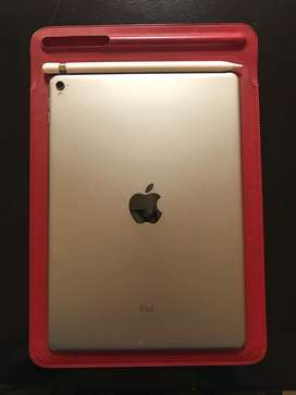 iPad Pro 9.7'' 128 gb + Apple Pencil + Funda Cuero Original Apple