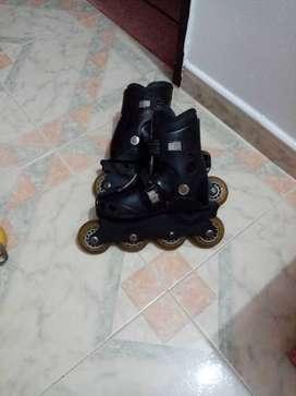 patines negros ajustables