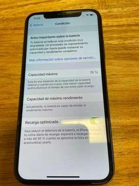 Vendo iphone x 64 gb negro liberado