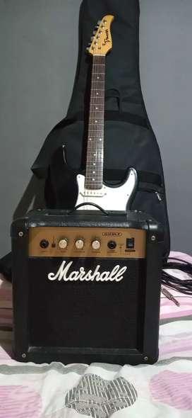 Guitarra eléctrica + amplificador
