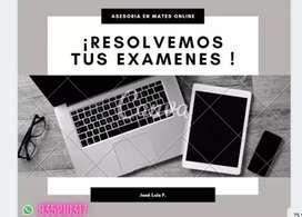 REALIZAMOS EXAMENES, PRÁCTICAS, TAREAS DE CÁLCULO INTEGRAL Y DIFERENCIAL
