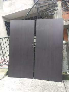 Puertas madera tamborada