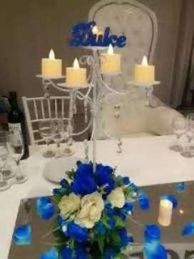 Alquilo calendabros y espiral para ceremonia de velas