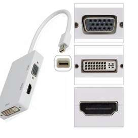 Cable Mini Display a Hdmi – Vga – Dvi convertidor