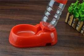 Bebedero + Botella - Dispensador De Agua Pequeño Mascotas