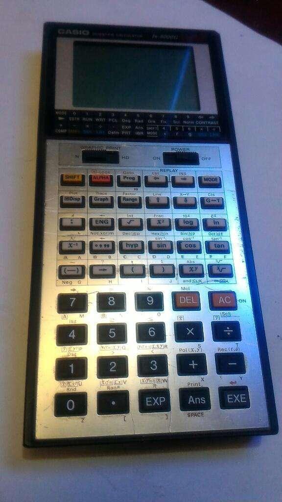 Calculadora Gráficadora Casio Vintage 0