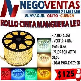 ROLLO CINTA MANGUERA LED DE 100MT DE LARGO EN DESCUENTO EXCLUSIVO ÚNICAMENTE AQUÍ EN NEGOVENTAS LOS MEJORES PRECIOS