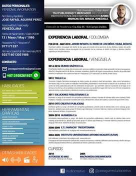 Busco Empleo Como Diseñador Grafico