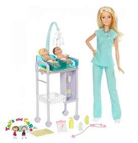 Nuevo Original Barbie doctora pediatra