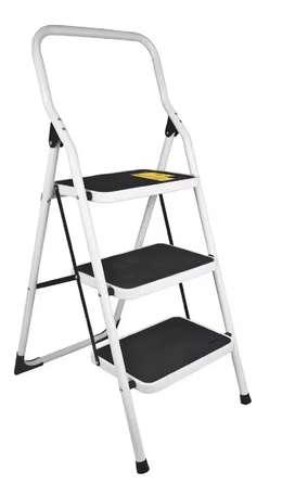 Escalera plegable 3 pasos tubular 3 escalones Pretul