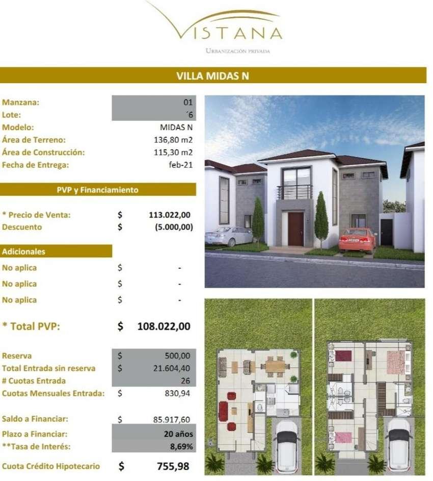 Casas en Venta Proyecto Urbanización Vistana km 12.5 Financiamiento Biees 0