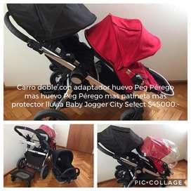 Coche Doble Baby Jogger con Huevito